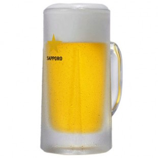 Sapporo Draft Beer in the mug