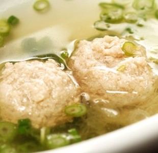 Two chicken balls in the hot pot